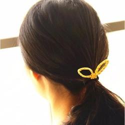 Combo 5 dây buộc tóc nữ thiết kế tai thỏ đặc biệt, phong cách Hàn