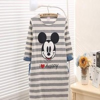 Đầm bầu ngủ hình chuột mickey dài tay xinh đẹp DBS63