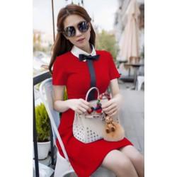 Đầm nơ Ngọc Trinh 6027