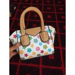Túi xách tay cầm ngắn họa tiết nhiều màu sắc - túi xách nữ giá rẻ