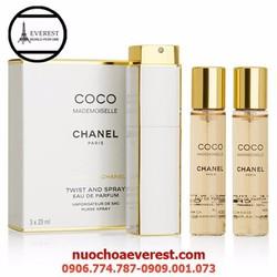 Bộ Chanel Coco 3 chai  Mademoiselle Gabrielle Twist and Spray
