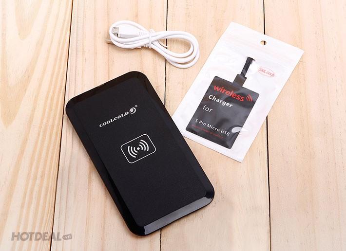 Bộ thẻ đế sạc không dây CoolCold MC-02A cho điện thoại  HĐH Android 5