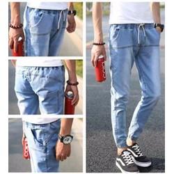 quần jeans lưng thun ống túm Mã: ND0558 - XANH NHẠT
