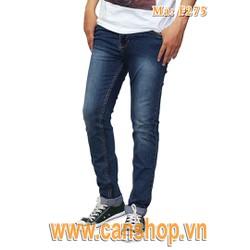 Quần jeans skinny nam xanh nhạt có wax - F275