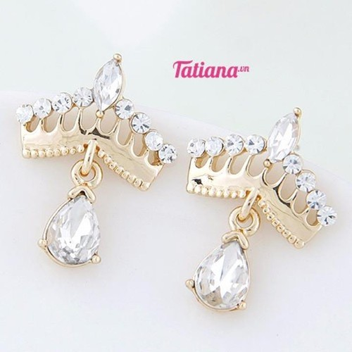 Tatiana - bông tai vương miện đá tòn ten - 12301690 , 2830125 , 15_2830125 , 55000 , Tatiana-bong-tai-vuong-mien-da-ton-ten-15_2830125 , sendo.vn , Tatiana - bông tai vương miện đá tòn ten