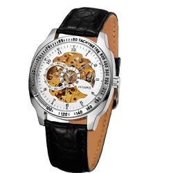 Đồng hồ OUYAWEI đồng hồ cơ tự động dây da tinh tế OU002