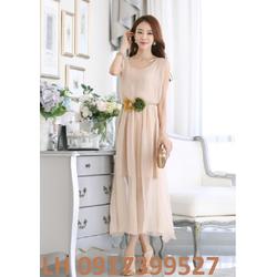 Dây nịt thắt lưng maxi đầm xòe phong cách Hàn Quốc mới L121566