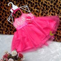 Đầm công chúa yếm hồng cánh sen