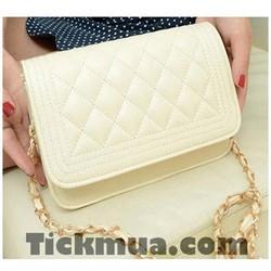 Túi hộp giả da mềm sang trọng Màu trắng_T2030T