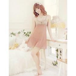 Váy Ngủ Gợi Cảm Kem Ren Sexy