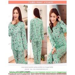 Đồ bộ mặc nhà pyjama dài tay hình thú nhỏ dễ thương NN424
