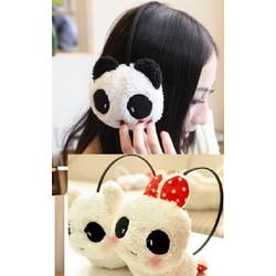 Bông chụp tai Panda Thỏ Bông