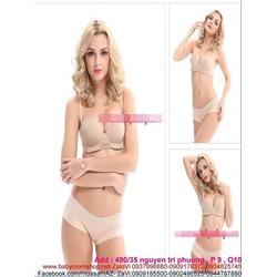 Áo ngực bra double kèm miếng dán dây vai sành điệu DLMD17
