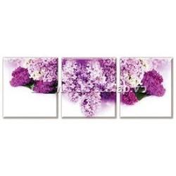 Tranh thêu hoa oải hương ghép 3 bức