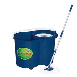 Bộ lau nhà 360 độ omega mop 01 xanh dương