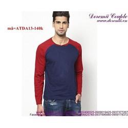 Áo thun nam tay dài phối màu trẻ trung sành điệu vATDA13