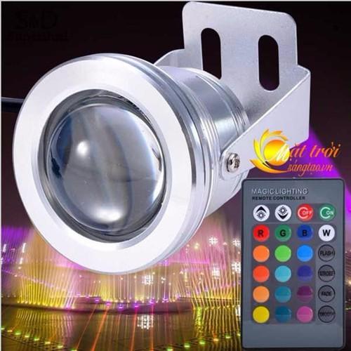 Bóng đèn led đổi màu có điều khiển từ xa RGB 10W chống nước