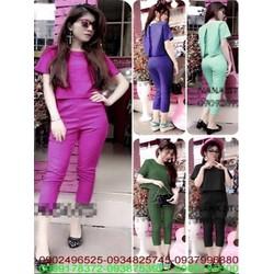 Sét áo xẻ lửng sành điệu và quần dài thời trang sành điệu SQV159