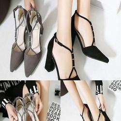 Giày cao gót nữ kiểu mũi nhọn sang trọng thiết kế mới lạ GCN240