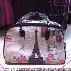 Túi cần kéo du lịch tháp Eiffel hình bản đồ TXL9