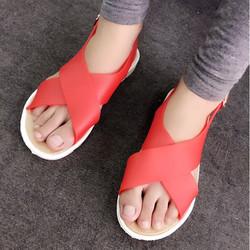 Sale off - size 38 - Giày sandals nhựa quai chéo SDQN26