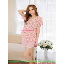 Đồ bộ mặc nhà hình trái cherry phối viền xinh đẹp NN438