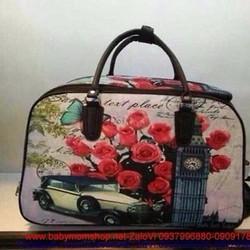 Túi du lịch cần kéo hình hoa hồng xinh và tháp đồng hồ london TXL5
