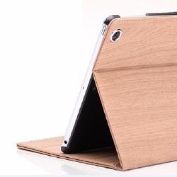 Bao da ipad Mini 1-2-3-4 vân gỗ bao rẻ. Dung chung với Mini 4