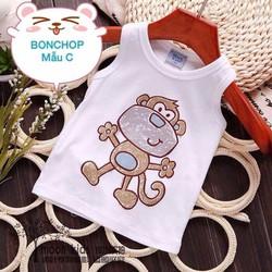 Áo ba lỗ in khỉ con đáng yêu