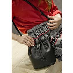 Túi xách da đeo chéo nữ hiện đại, kiểu thắt nút, trơn màu giản dị-T311