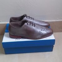 Giày da nam handmade họa tiết