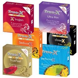 Combo 6 hộp bao cao su True-X các loại