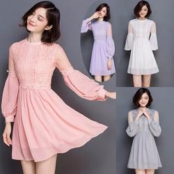 Đầm xòe công chúa ren hoa BD171 - HÀNG NHẬP HQ CAO CẤP Y HÌNH