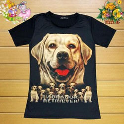 HÀNG THÁI:Áo Thun Nữ In Hình Chú Chó