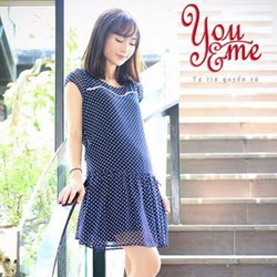 Đầm Bầu Chấm Bi Phong Cách Hàn Quốc