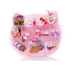 Hộp trang sức và phụ kiện tóc Hello Kitty 15 món cực xinh cho bé