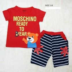 Đồ bộ hình gấu phối quần sọc hiệu Carter cho bé trai size 1-8 tuổi