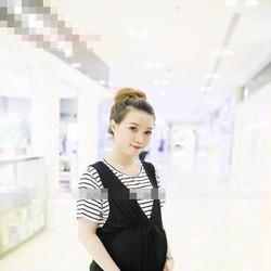 Đầm bầu đi làm thiết kế phối áo sọc xinh đẹp hàng korea DB496