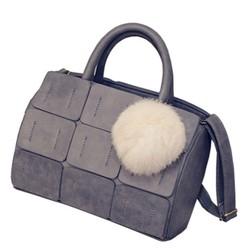 Túi xách nữ dáng hộp thời trang xám