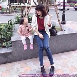 Quần jean nữ lưng cao 1 nút phong cách sành điệu hhQJE277