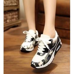 giày sneaker nữ rằn ri Mã: GT0060 - ĐEN
