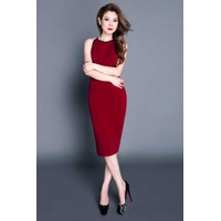 Hàng đẹp - Đầm Body Cổ Yếm Phối Ren Sang -DBCYPR