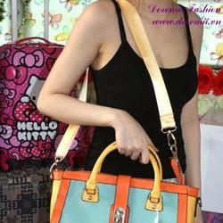 Túi xách da thời trang phối màu trẻ trung sành điệu TXT41