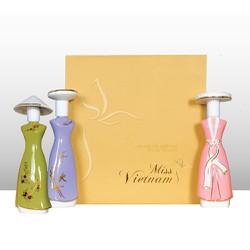 Bộ nước hoa Miss Việt Nam gốm sứ 3 màu