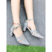 HÀNG CAO CẤP LOẠI I - Giày cao gót sandal đế vuông