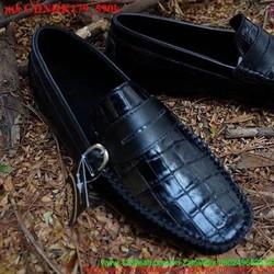 Giày mọi da nam công sở cá sấu khóa da sang trọng GDNHK179