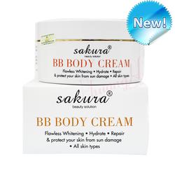 Kem Dưỡng Trắng Da Và Trang Điểm Nhẹ Toàn Thân Sakura  BB Body Cream
