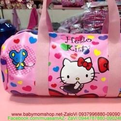 Túi xách hình trống hello kitty họa tiết hình trái tím đẹp TX29