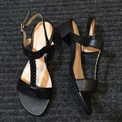 Giày cao gót mùa hè da PU mềm