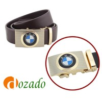 Thắt lưng da bò logo BMW Đen và Nâu
